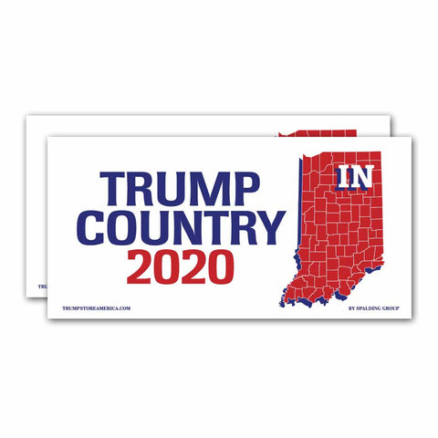 Indiana is Trump Country 2020 – Bumper Sticker pack of 2