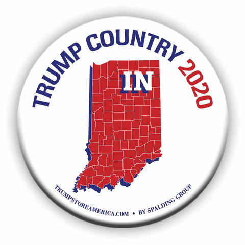 "Indiana is Trump Country 2020 – 3"" Round Button"