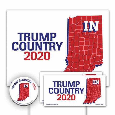 Indiana is Trump Country Yard Sign Kit