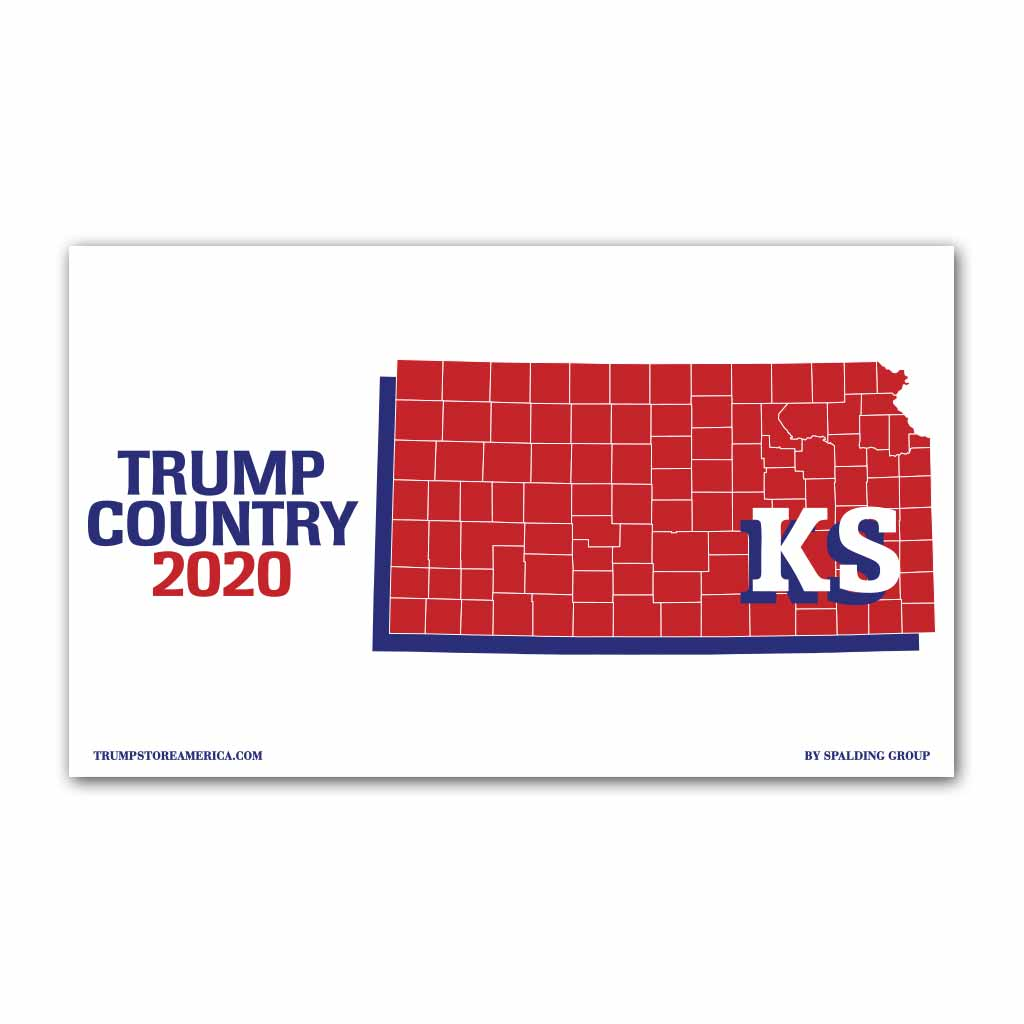 Kansas is Trump Country 2020 - Vinyl 5' x 3' Banner