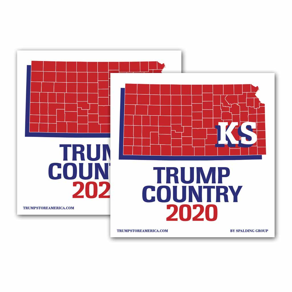 Kansas is Trump Country 2020 – Bumper Sticker pack of 2