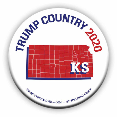 "Kansas is Trump Country 2020 – 3"" Round Button"