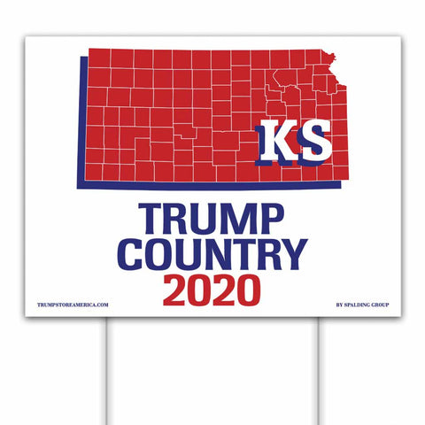 Kansas is Trump Country 2020 – Yard/Rally Sign