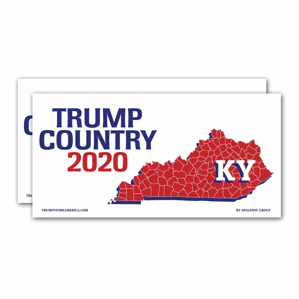 Kentucky is Trump Country 2020 – Bumper Sticker pack of 2