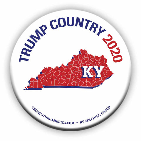 "Kentucky is Trump Country 2020 – 3"" Round Button"