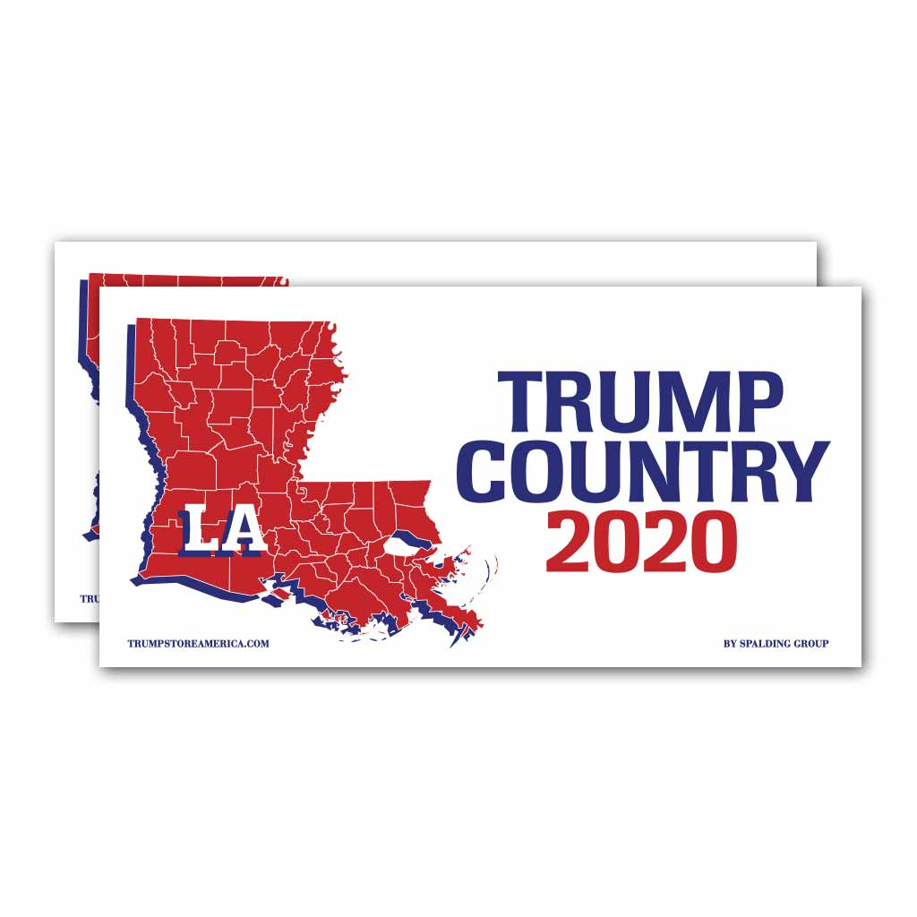 Louisiana is Trump Country 2020 – Bumper Sticker pack of 2
