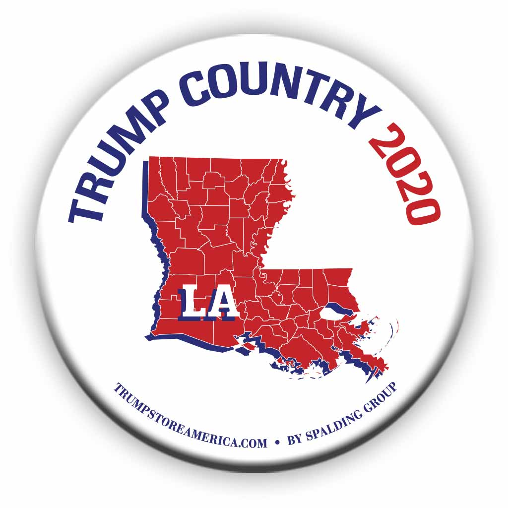 "Louisiana is Trump Country 2020 – 3"" Round Button"