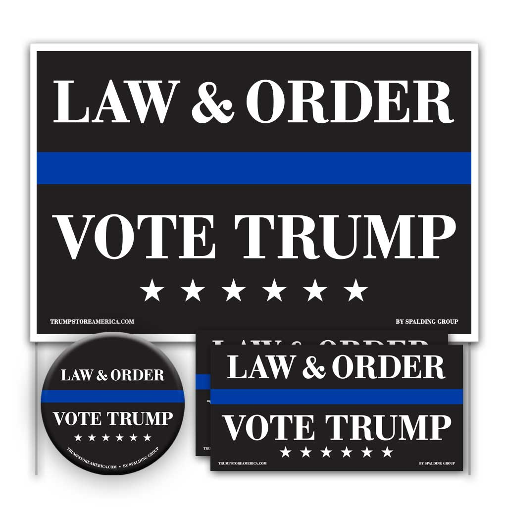 Trump 2020 Yard Sign Kit - Law and Order