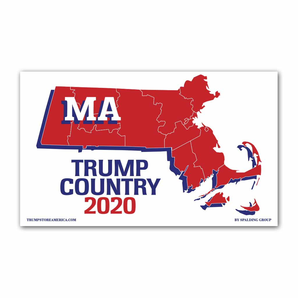 Massachusetts is Trump Country 2020 - Vinyl 5' x 3' Banner