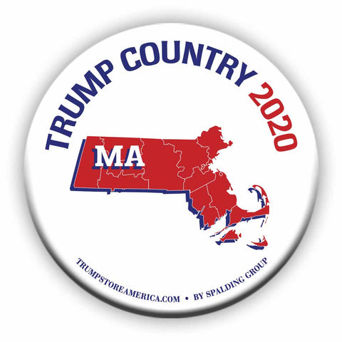 "Massachusetts is Trump Country 2020 – 3"" Round Button"
