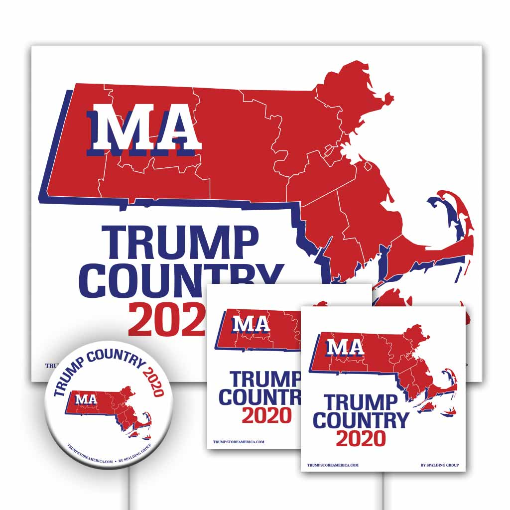 Massachusetts is Trump Country Yard Sign Kit