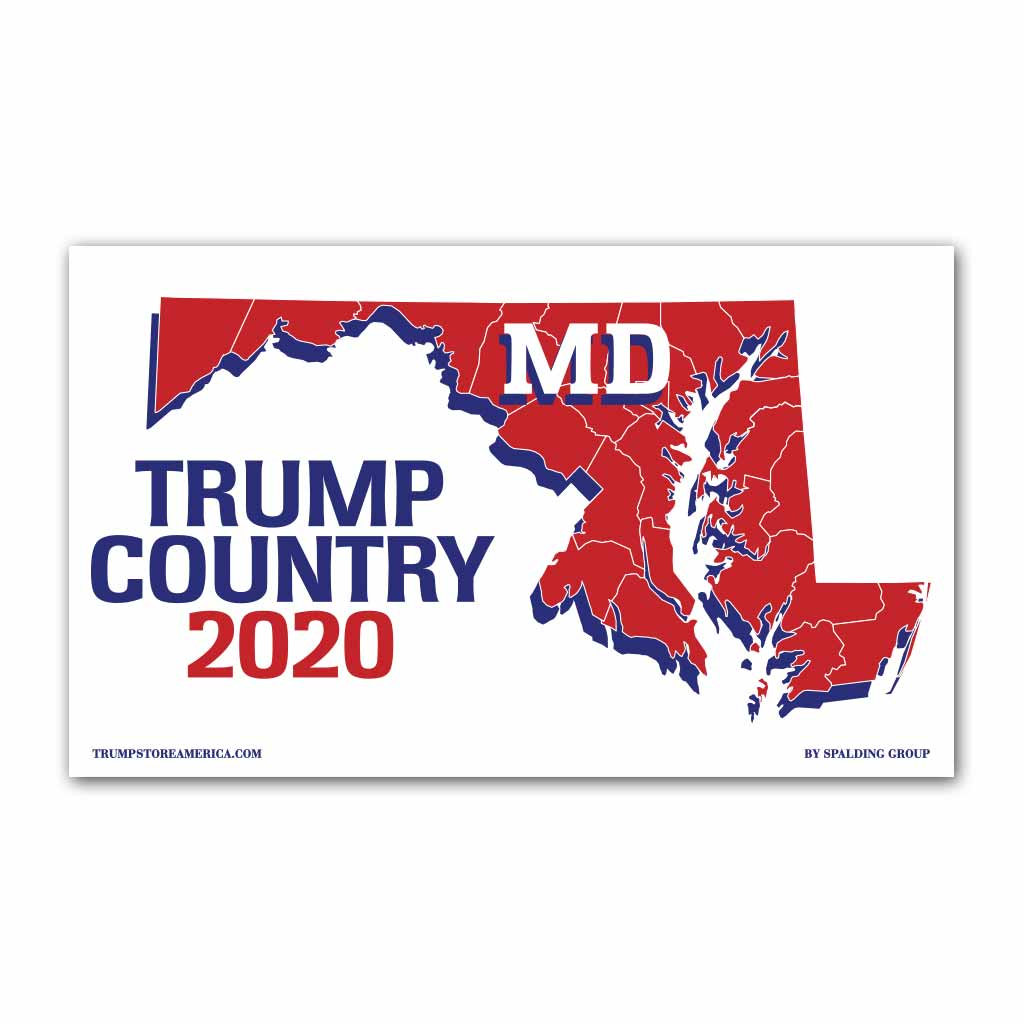 Maryland is Trump Country 2020 - Vinyl 5' x 3' Banner