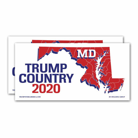 Maryland is Trump Country 2020 – Bumper Sticker pack of 2