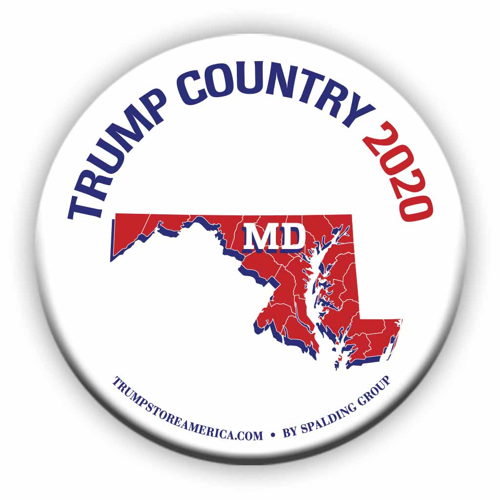 "Maryland is Trump Country 2020 – 3"" Round Button"