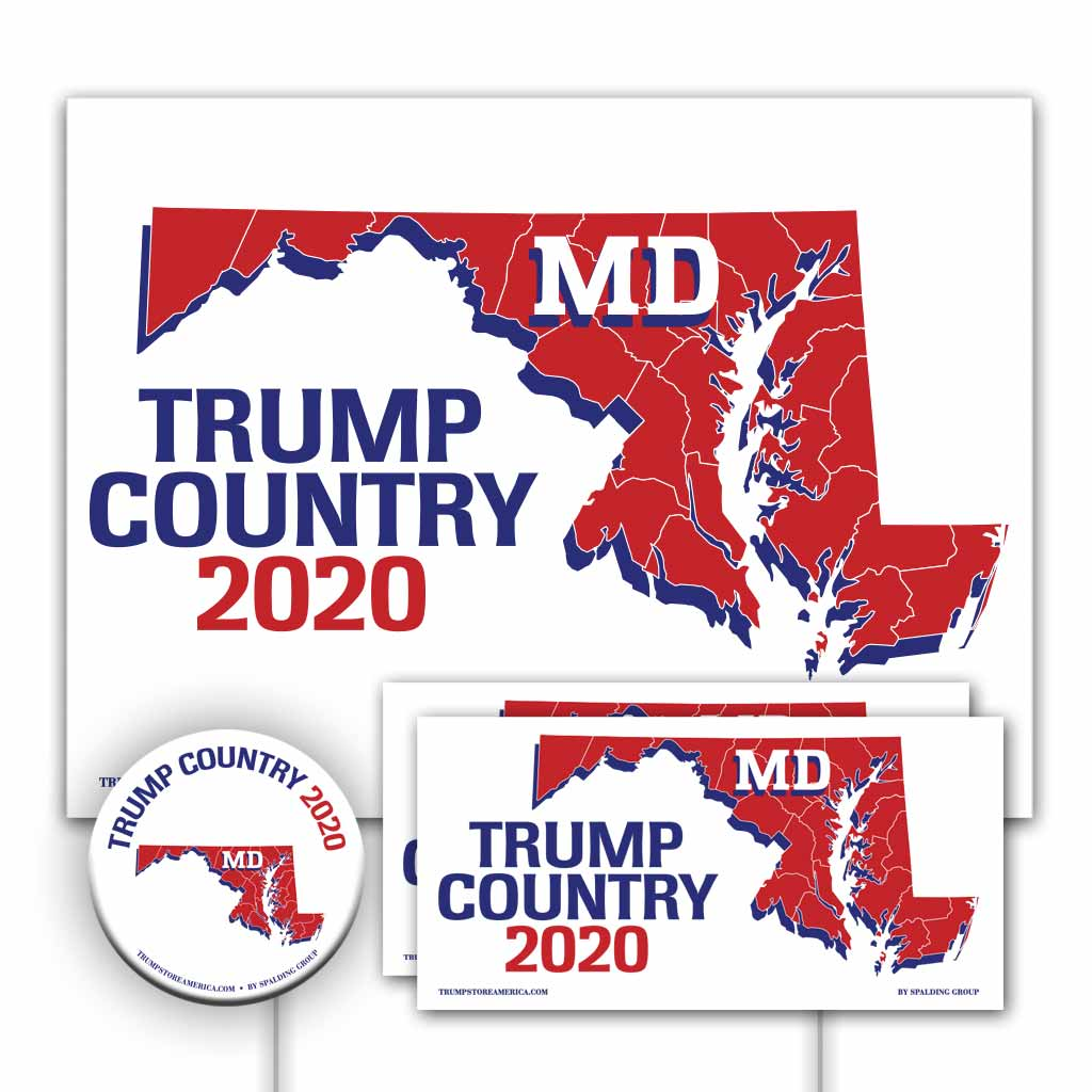Maryland is Trump Country Yard Sign Kit