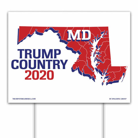 Maryland is Trump Country 2020 – Yard/Rally Sign