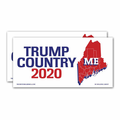 Maine is Trump Country 2020 – Bumper Sticker pack of 2