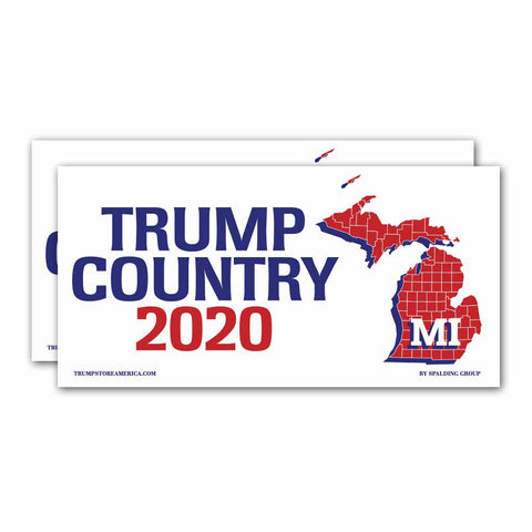 Michigan is Trump Country 2020 – Bumper Sticker pack of 2