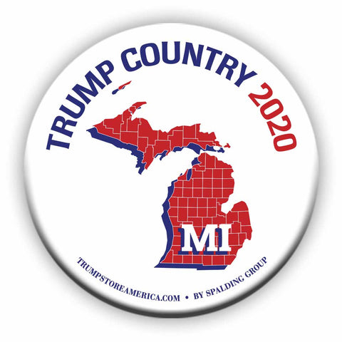 "Michigan is Trump Country 2020 – 3"" Round Button"