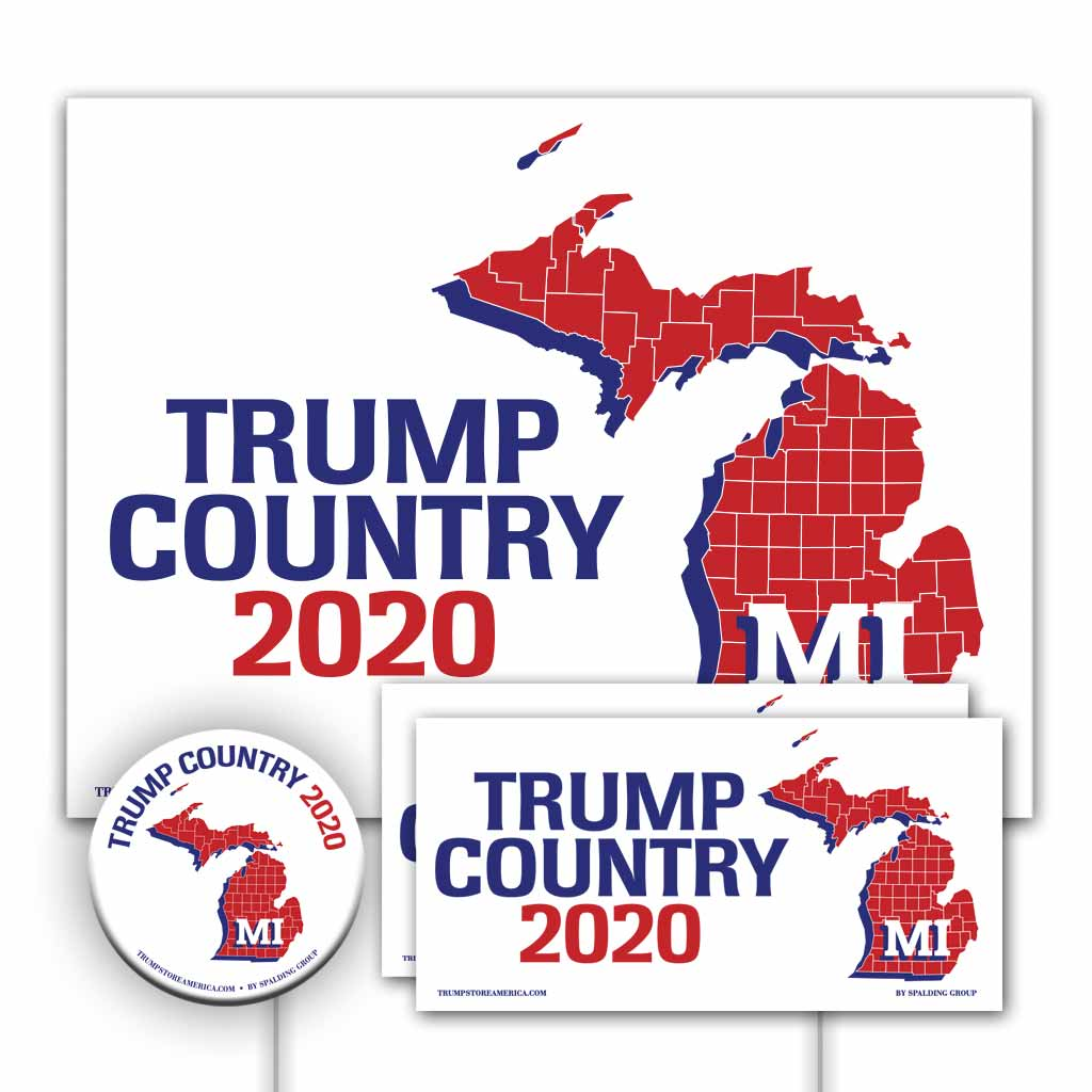 Michigan is Trump Country Yard Sign Kit