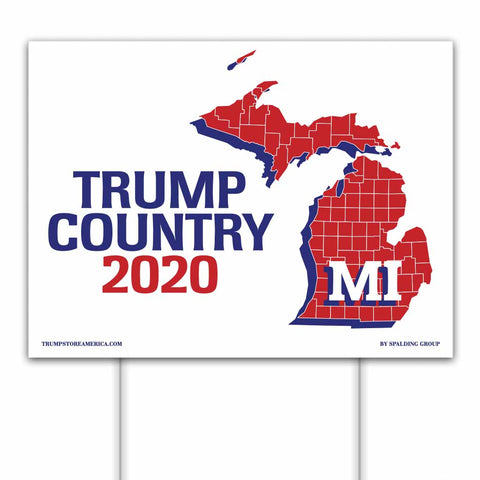 Michigan is Trump Country 2020 – Yard/Rally Sign