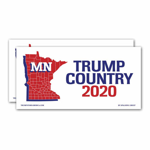 Minnesota is Trump Country 2020 – Bumper Sticker pack of 2