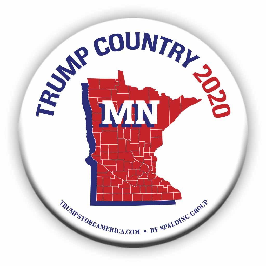 "Minnesota is Trump Country 2020 – 3"" Round Button"