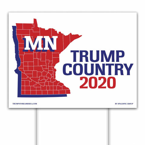 Minnesota is Trump Country 2020 – Yard/Rally Sign