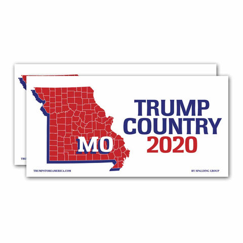 Missouri is Trump Country 2020 – Bumper Sticker pack of 2