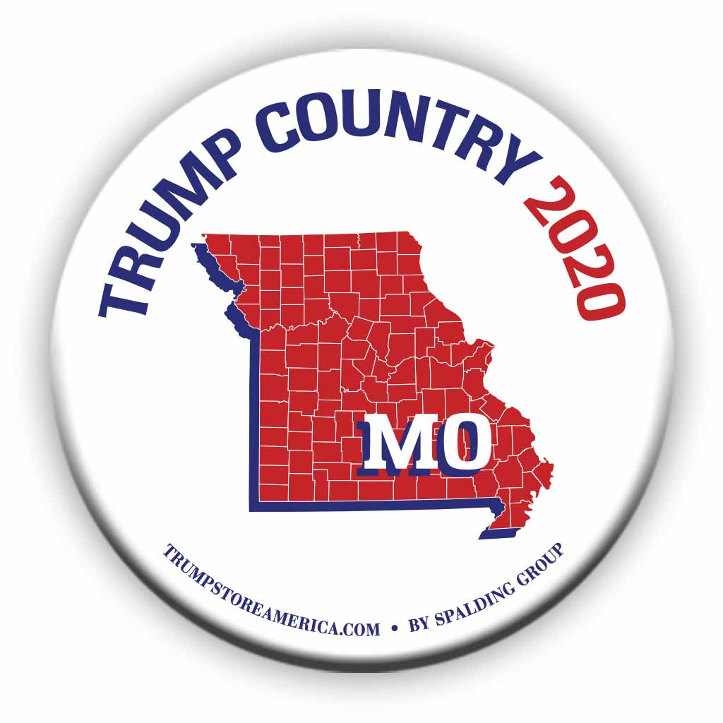 "Missouri is Trump Country 2020 – 3"" Round Button"