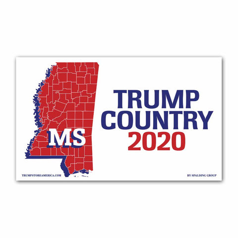 Mississippi is Trump Country 2020 - Vinyl 5' x 3' Banner