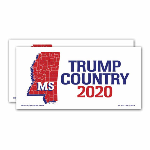 Mississippi is Trump Country 2020 – Bumper Sticker pack of 2