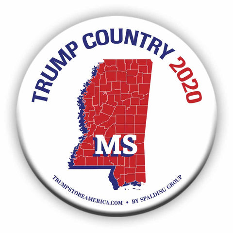 "Mississippi is Trump Country 2020 – 3"" Round Button"