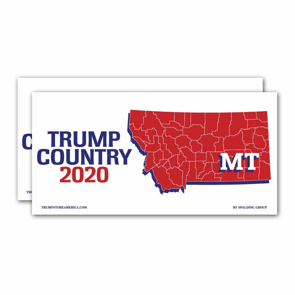Montana is Trump Country 2020 – Bumper Sticker pack of 2