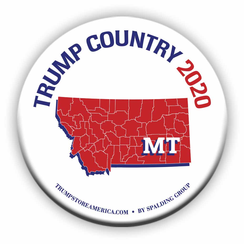 "Montana is Trump Country 2020 – 3"" Round Button"