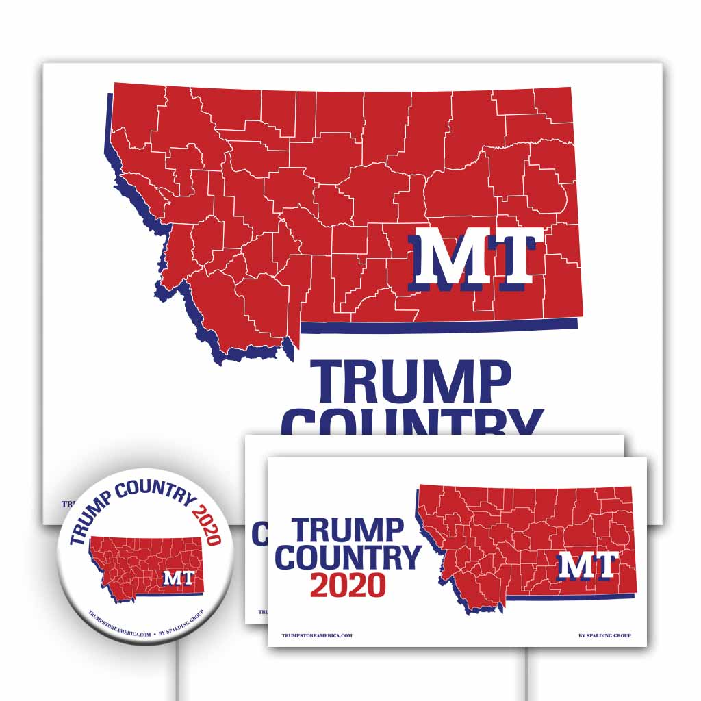 Montana is Trump Country Yard Sign Kit