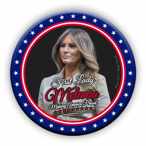 First Lady Melania Photo Button