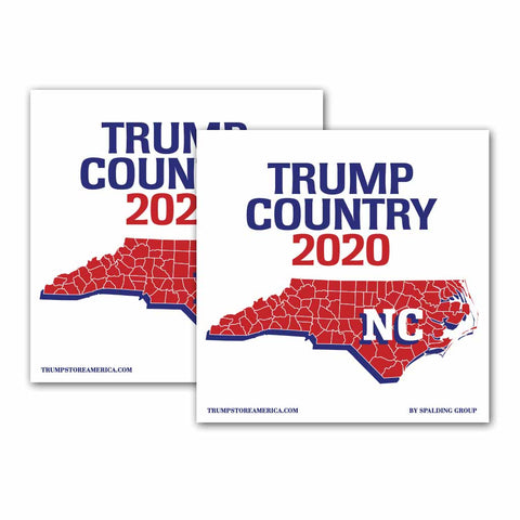 North Carolina is Trump Country 2020 – Bumper Sticker pack of 2