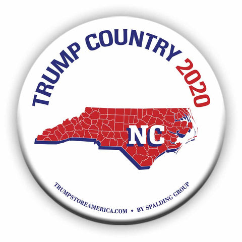"North Carolina is Trump Country 2020 – 3"" Round Button"