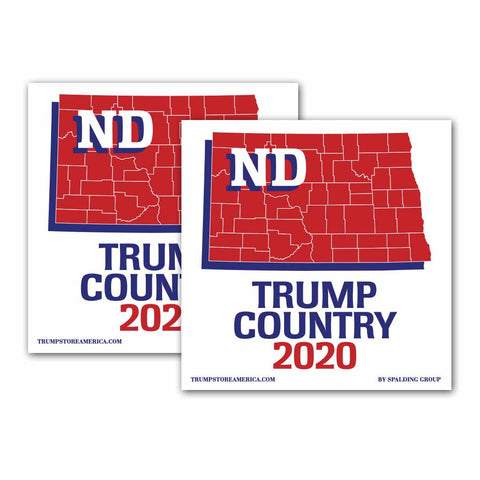 North Dakota is Trump Country 2020 – Bumper Sticker pack of 2