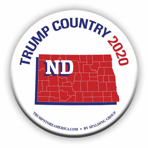 "North Dakota is Trump Country 2020 – 3"" Round Button"