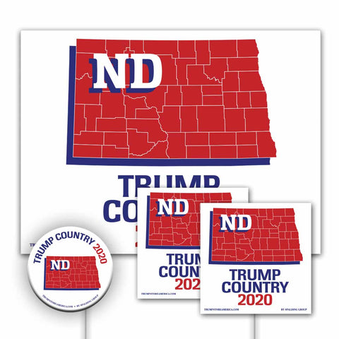 North Dakota is Trump Country Yard Sign Kit