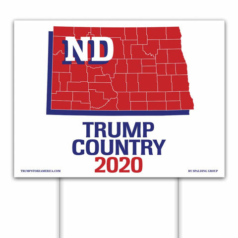 North Dakota is Trump Country 2020 – Yard/Rally Sign