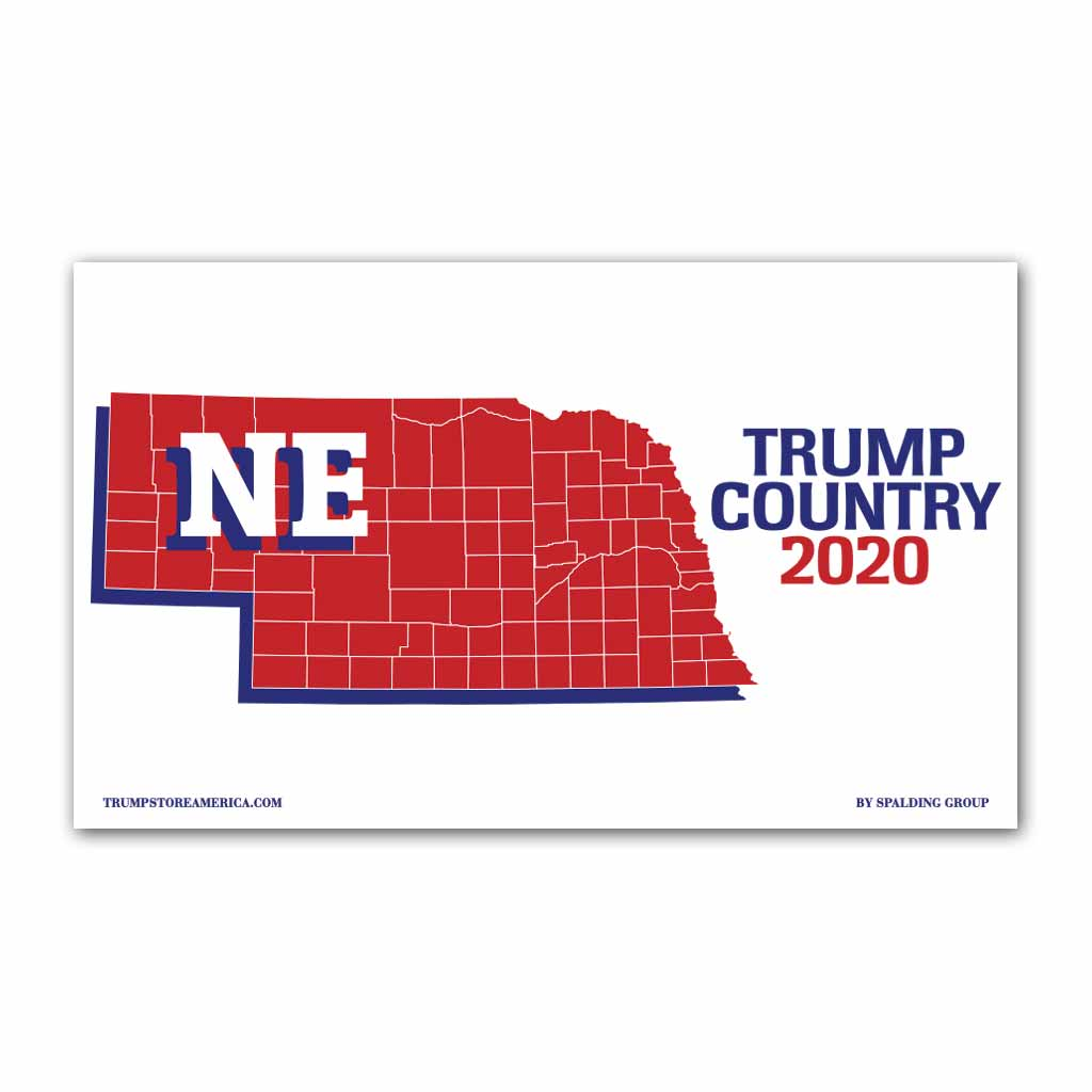 Nebraska is Trump Country 2020 - Vinyl 5' x 3' Banner