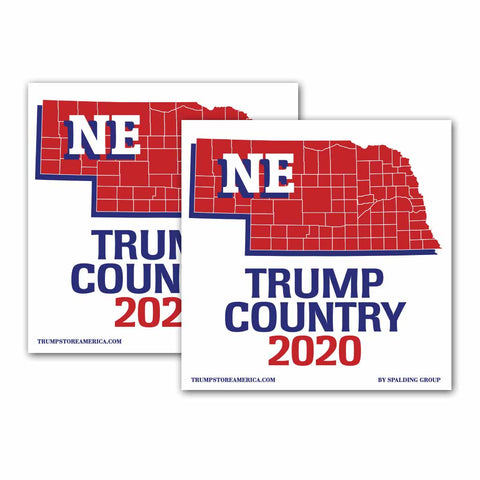 Nebraska is Trump Country 2020 – Bumper Sticker pack of 2
