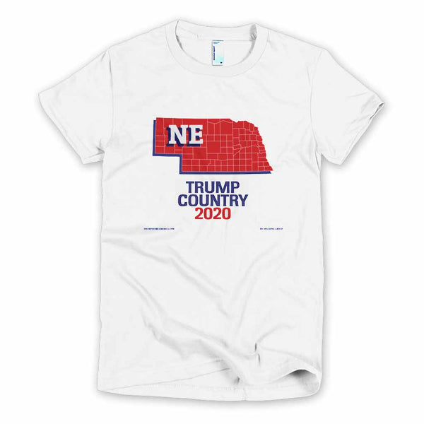 Nebraska is Trump Country Women's Slim Fit T-shirt