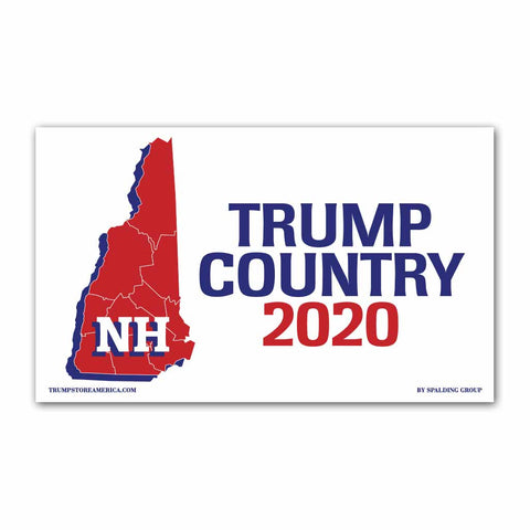 New Hampshire is Trump Country 2020 - Vinyl 5' x 3' Banner