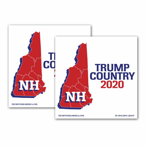 New Hampshire is Trump Country 2020 – Bumper Sticker pack of 2