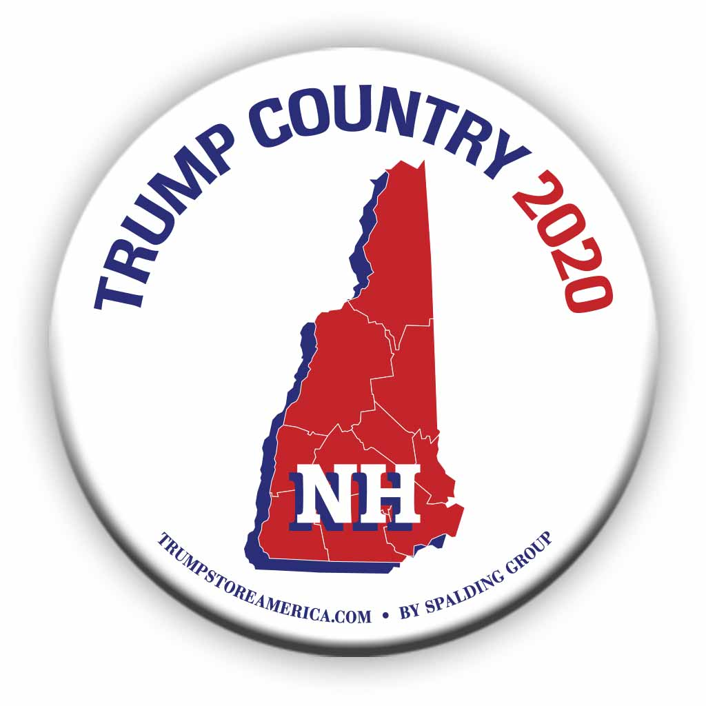 "New Hampshire is Trump Country 2020 – 3"" Round Button"