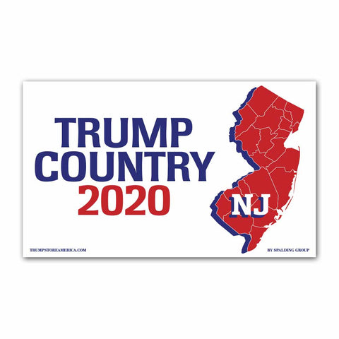 New Jersey is Trump Country 2020 - Vinyl 5' x 3' Banner